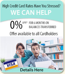 High credit card rates have you stressed? we can help